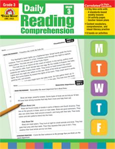 Daily Reading Comprehension, Grade 3 - Teacher's Edition