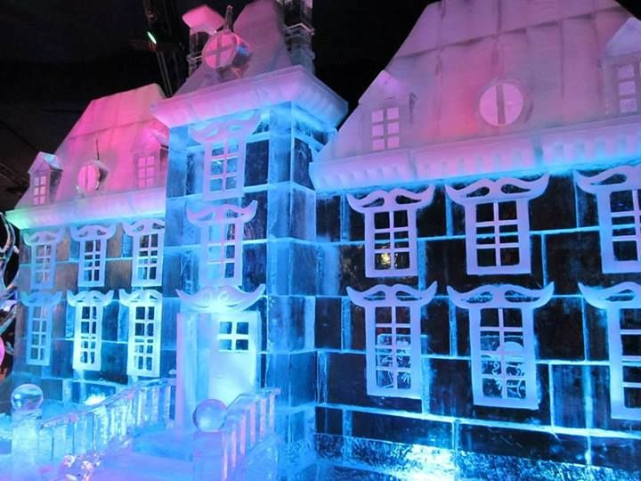 House made of ice in Brussels. (Why wasn't this there when I was?! Lame. lol)