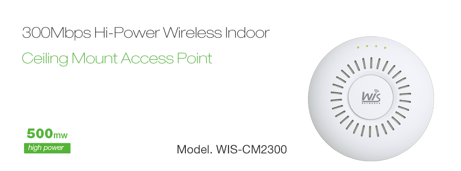 Wis Cm2300 Is A Stylish Poe Wireless Access Point Featuring 802 11n 2 2 Mimo Technology And Unique Ceiling Mount And Wall Mount Design Produk