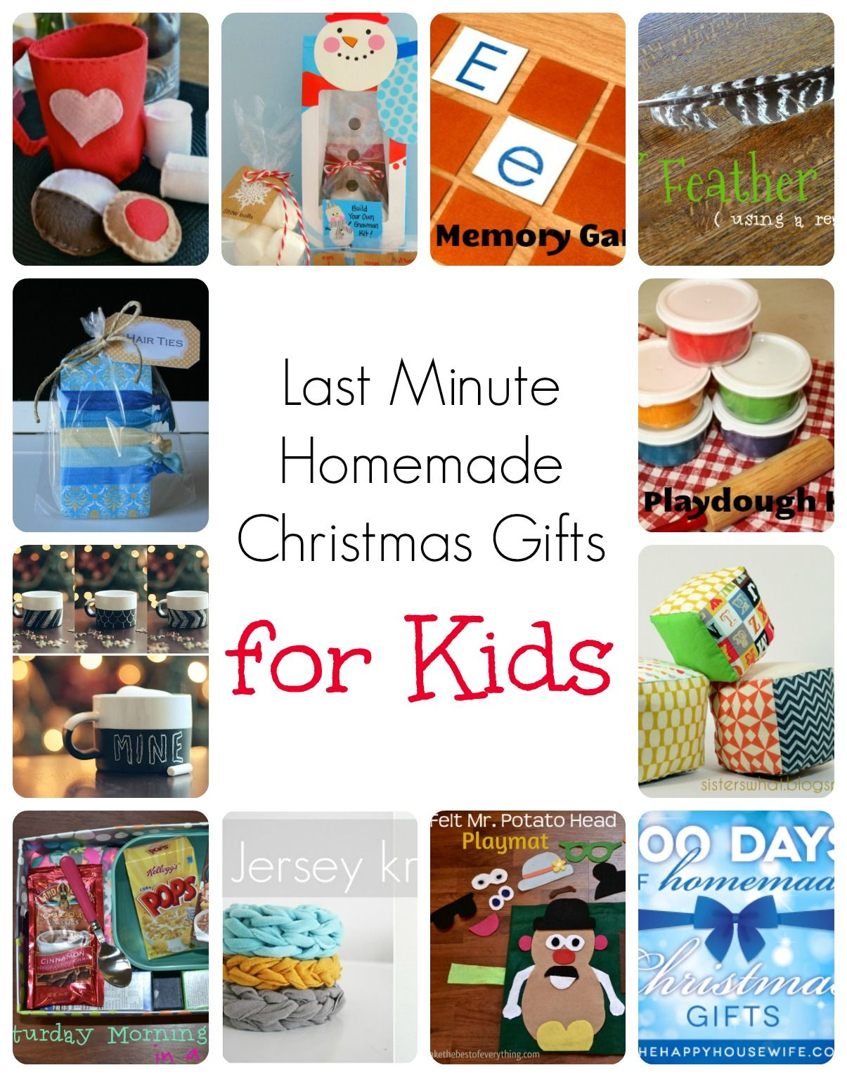 Last Minute Homemade Christmas Gifts for Kids | Christmas Crafts for ...