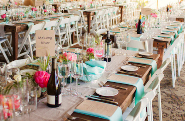 napkin off table menu on top Different wedding ideas