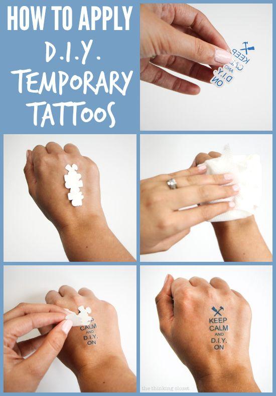 Easy Temporary Tattoos Diy