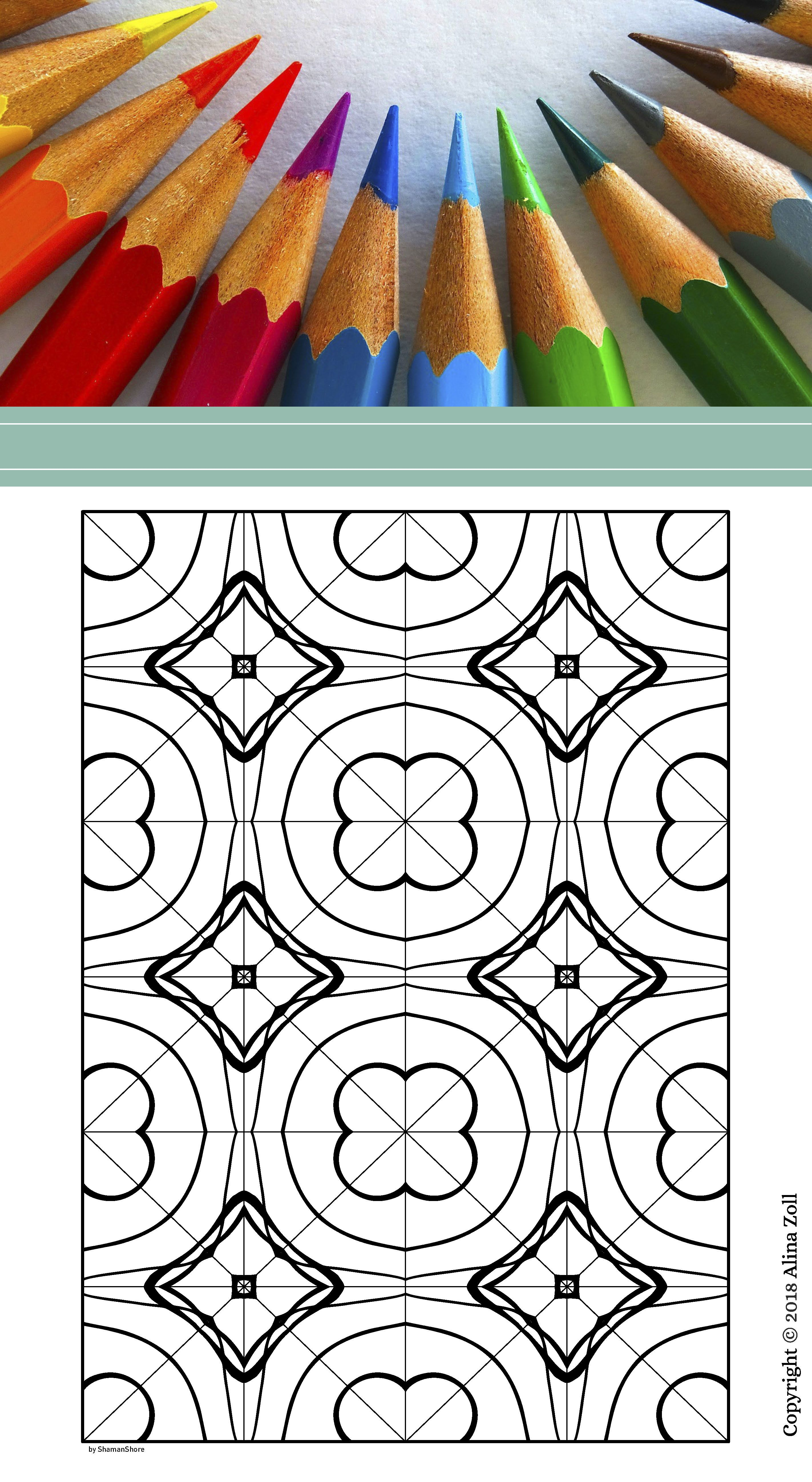 Paperback Abstract Kaleidoscope Adult Coloring Book 55