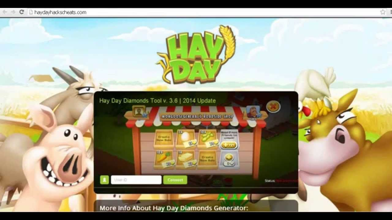 Hay Day Cheats and Hacks. Get FREE Diamonds in 3 easy steps.   Go to http://haydayhackscheats.com right now.  You can also get hay day tips and other hay day hack to leveling faster