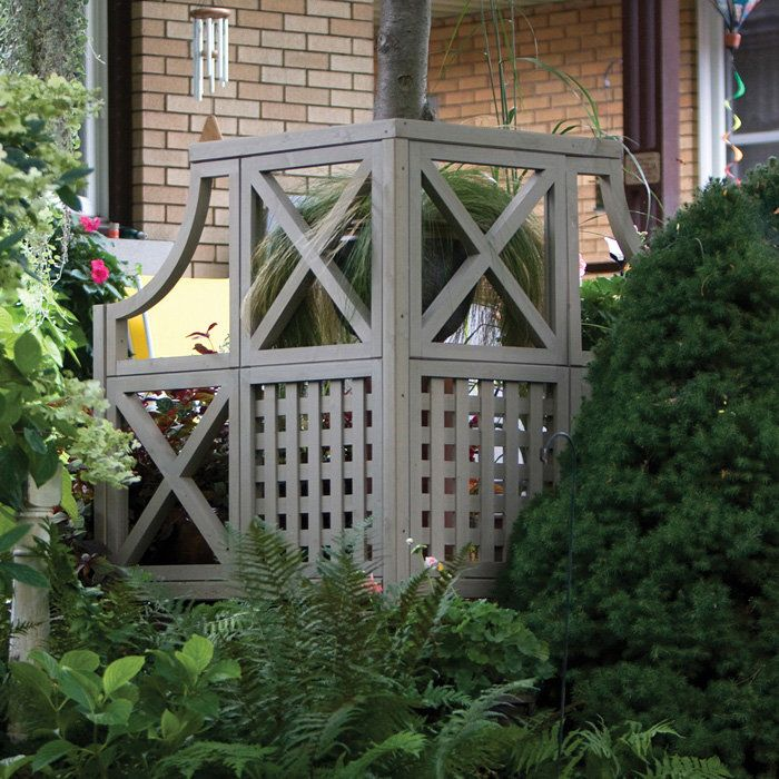 Easy Pool Deck W Privacy Screen: Corner Garden Privacy Screen Kit: Good Solution To Hide