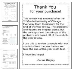 Everyday Math Unit 3 Review Everyday Math Math Math Assessment