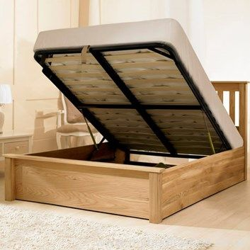 Excellent Monaco Solid Oak Ottoman In 2019 Ottoman Beds Bed Frame Dailytribune Chair Design For Home Dailytribuneorg