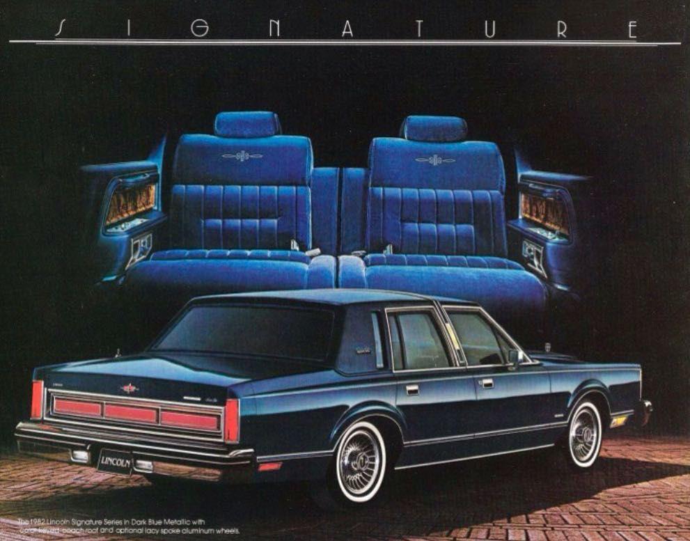 1982 Lincoln Town Car Print Ad Lincolnmotorcar Showcase Badwf