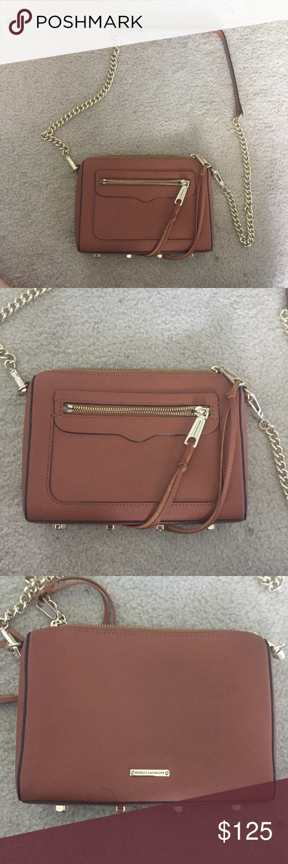 Rebecca Minkoff Avery Crossbody Tan color, literally perfect condition, no flaws, worn a couple of times, gold hardware *LISTED PRICE IS FIRM* Rebecca Minkoff Bags Crossbody Bags