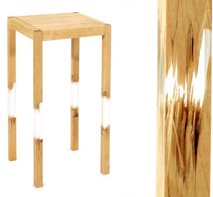 Petter Thorne // More // acrylic broken and fixed chairs   Design ...
