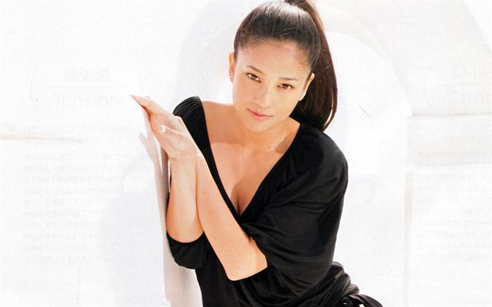 Lataa kuva Kuroki Meisa, Japanilainen näyttelijä, muotokuva, kaunis nuori Japanilainen nainen
