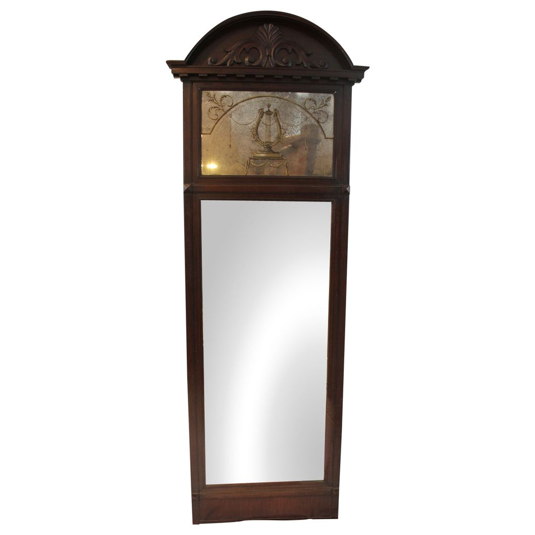 German neoclassical style antique mahogany mirror antique german neoclassical style antique mahogany mirror amipublicfo Images