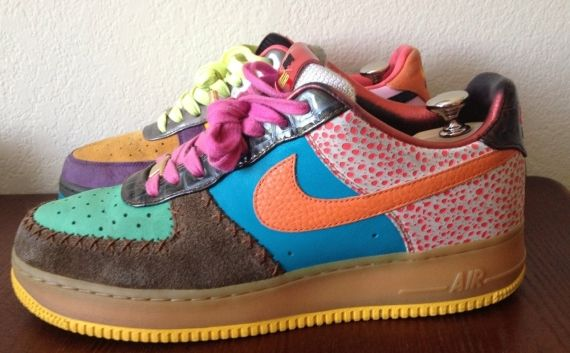 "brand new 98d86 8026a Nike Air Force 1 Bespoke ""Lottery Ticket"""