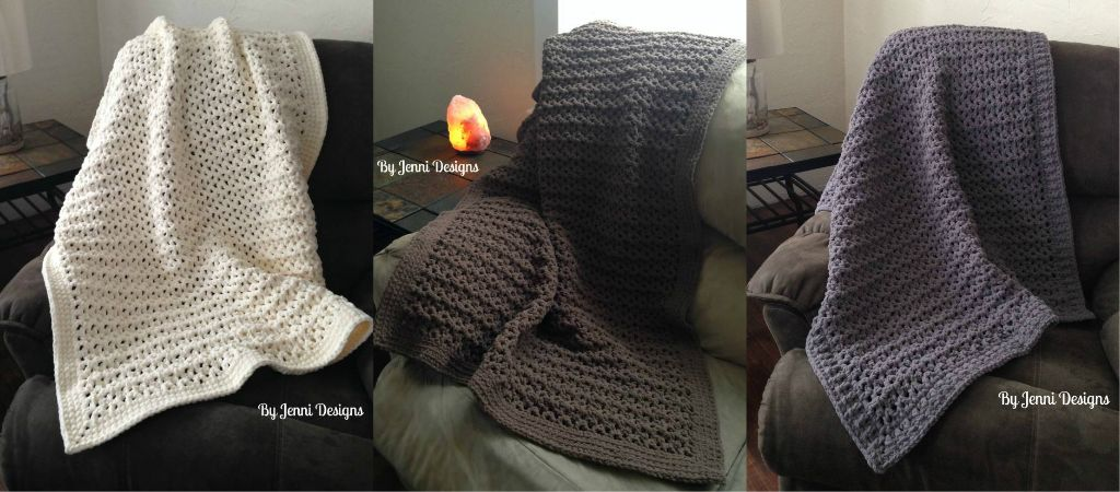 Free Crochet Pattern Jennis Favorite Chunky Throw Blanket Using