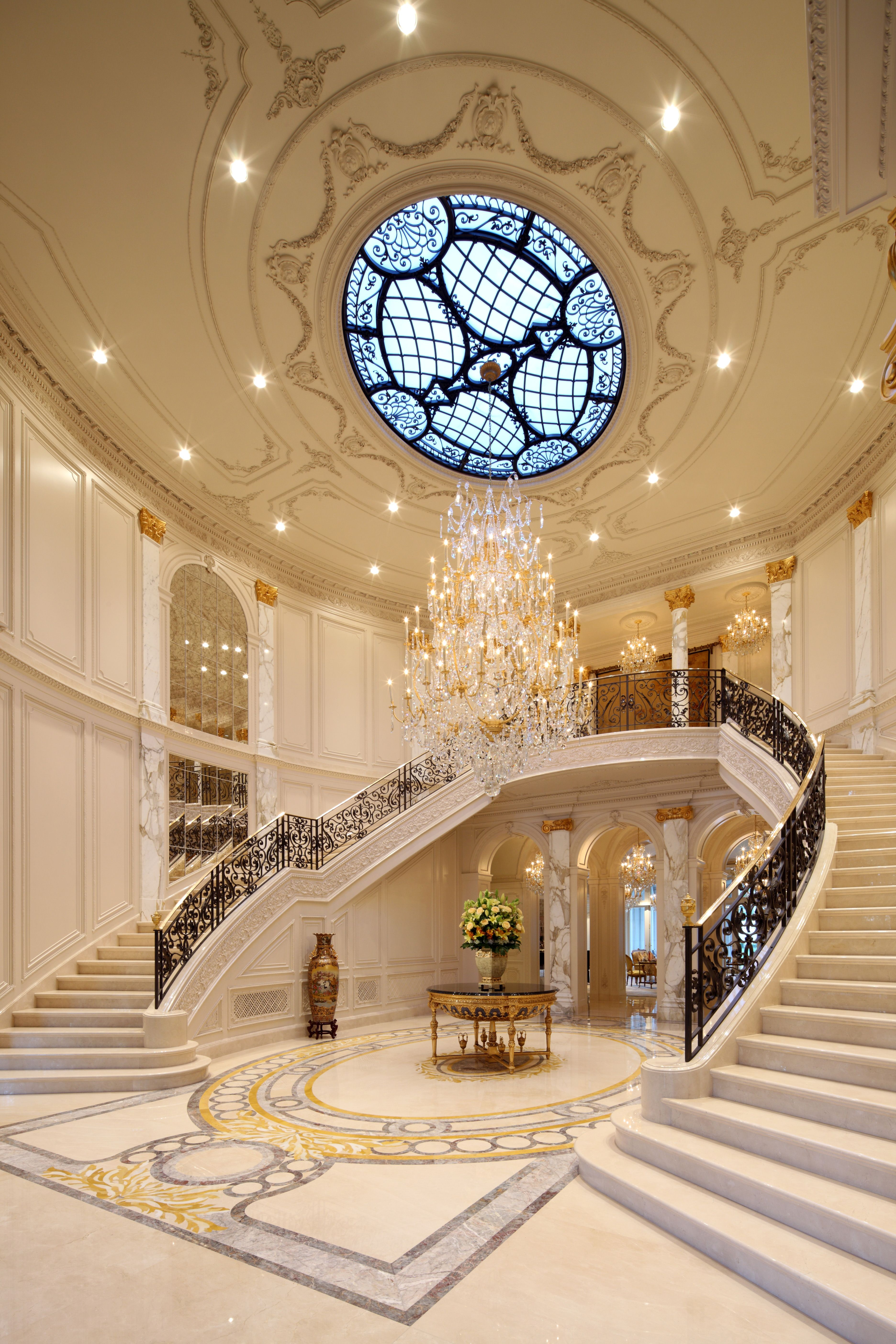main foyer   Luxury homes, Staircase design, Mansions