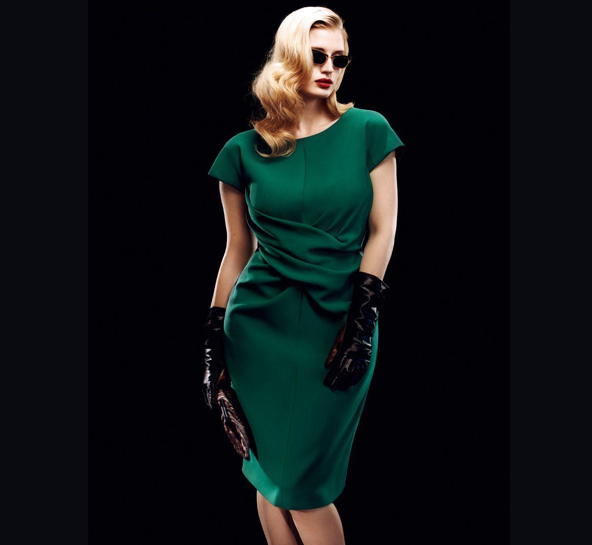 Dark Green Cap Sleeve Dress Plussize Plus Size Fashion