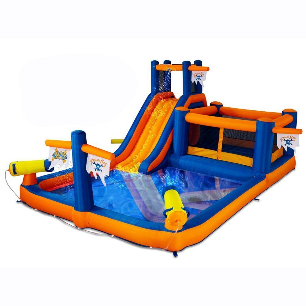 Have you tried the Blast Zone Pirate's Bay Inflatable Combo Water Park with a bounce?