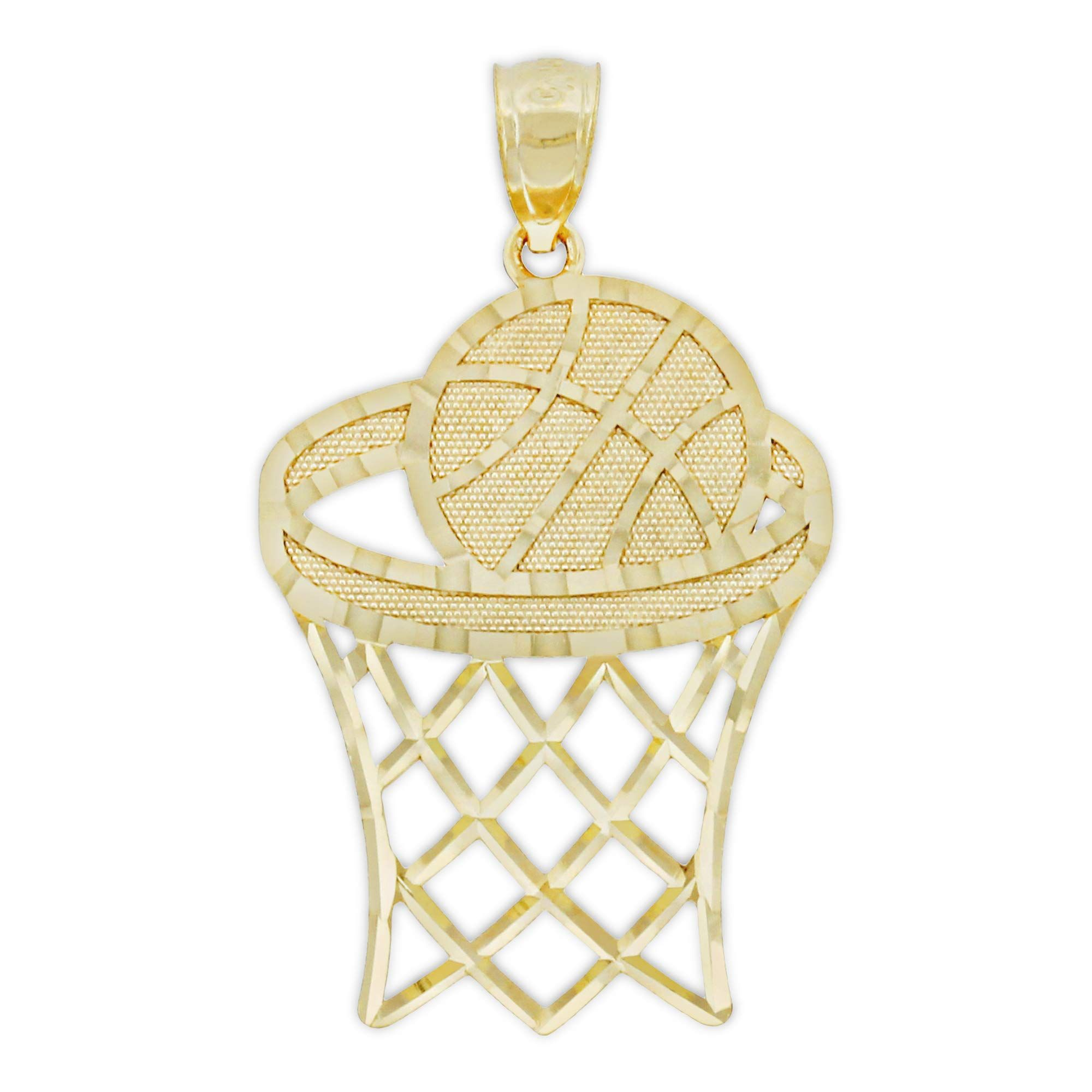Charm America Gold Basketball And Hoop Charm 10 Karat Solid Gold You Could Discover Out Even More Informa Hoop Charms Womens Fashion Jewelry Mens Jewelry
