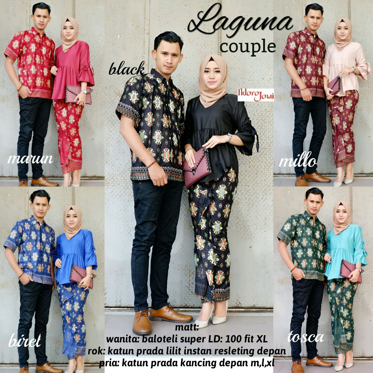 Trend Model Baju Batik Couple Sarimbit Anak Muda 2018 Couple Laguna ... 468ab919cf