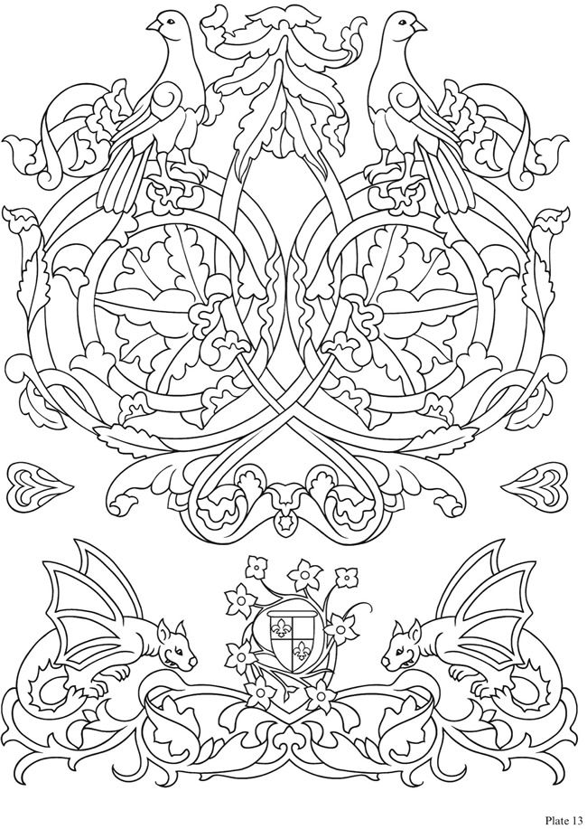 From: Elegant Medieval Iron-On Transfer Patterns