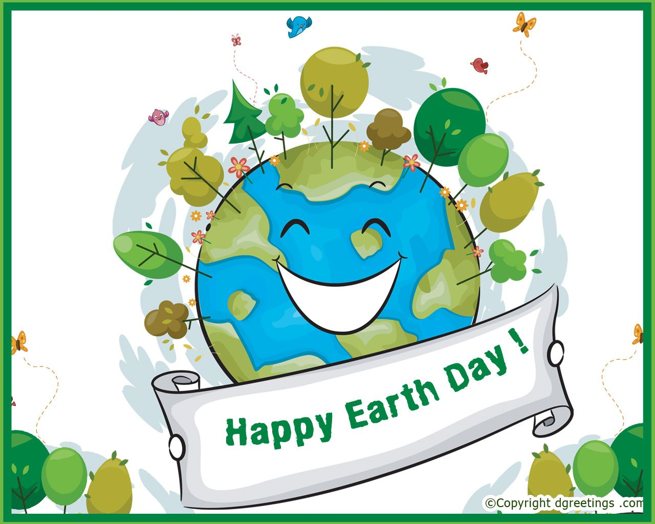 Wish You All Happy Earth Day Painting Graphic