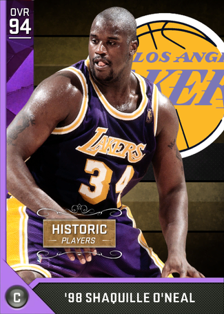 Starting 5 Pack 2kmtcentral Nba Mvp Shaquille O Neal Lakers Basketball