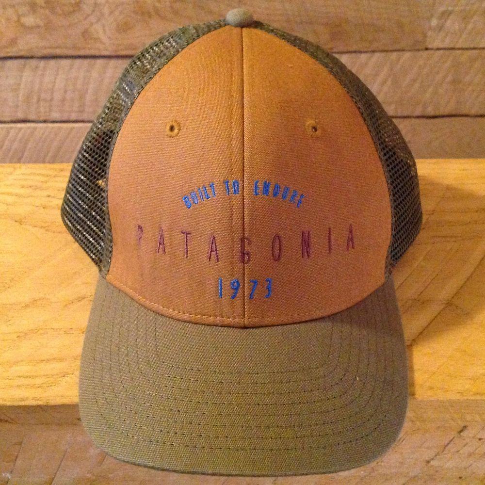 Rare Patagonia Hat Brown Bear Mesh SnapBack Built to Endure 1973 Trucker Cap   Patagonia   9ed1d2be47e