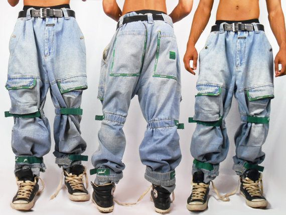 9ac8c94d Mens Denim/ Mens Pants/ Vaporwave/ Fubu/ Cyber Ghetto/ Mens Jeans/ Baggy  Jeans/ Girbaud Jeans/ 90s Jeans/ 90s Hip Hop Clothing/ Cross Colour