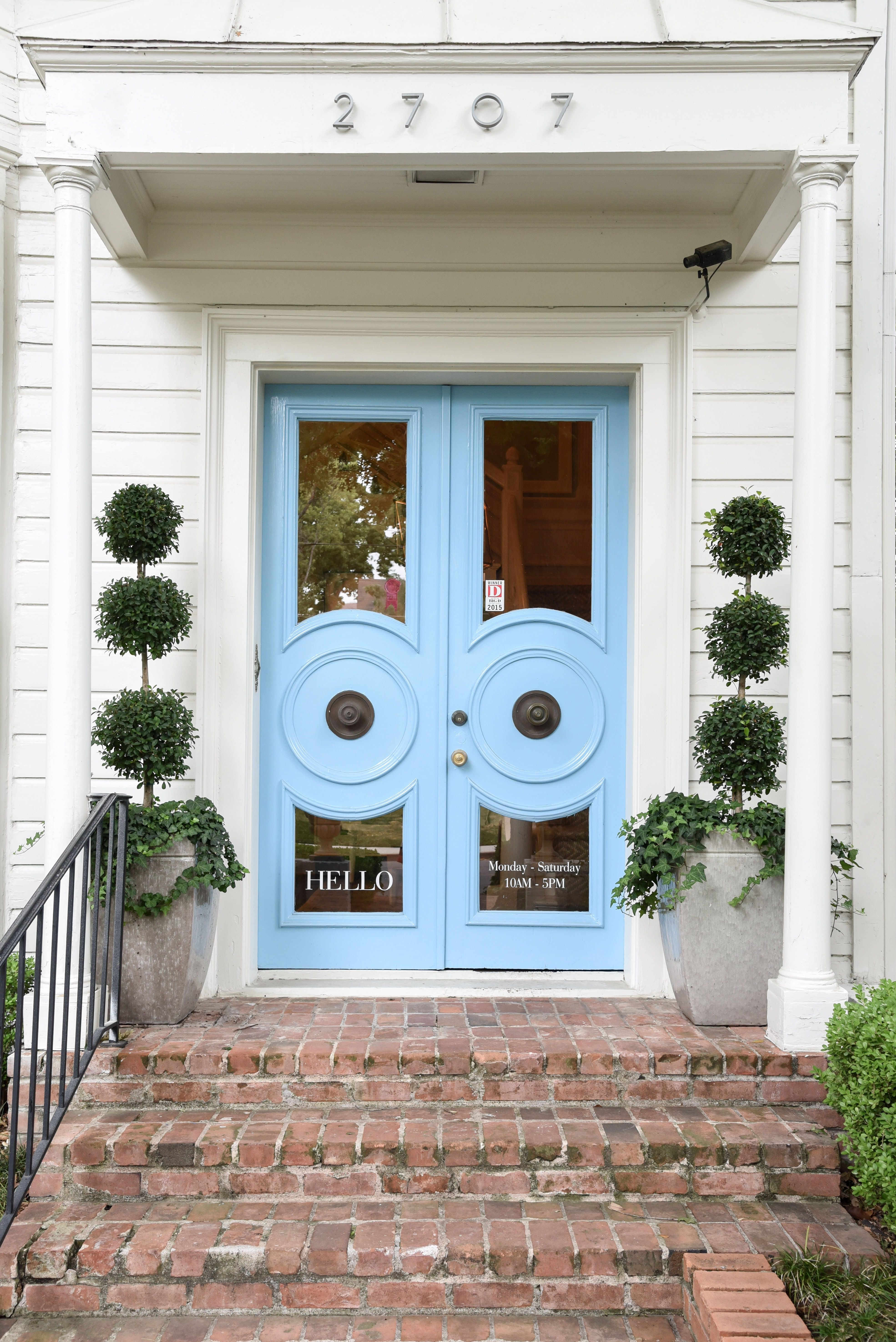 blue print blue front doors | boxwoods | dallas home store ...