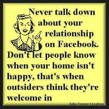 Funny Facebook Status Never Post About Your Relationship On Facebook Quo Happy Quotes Quotes Funny Quotes