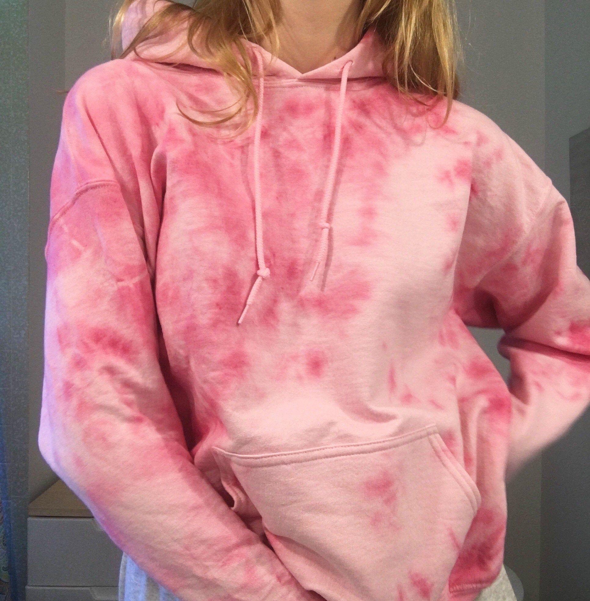 Pink Tie Dye Oversized Hoodie Sweatshirt Oversize Hoodie Tie Dye Pink Tie Dye [ 1970 x 1932 Pixel ]
