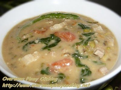 Guinataang Mungo, Mung Bean Soup with Coconut Cream