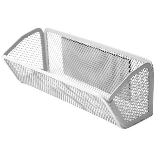 Locker Mesh Bin - White ($3.99) ❤ liked on Polyvore featuring home, home decor, white home decor and white home accessories
