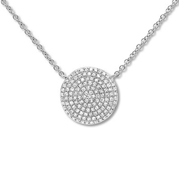 Shy Creation Diamond Necklace 1 3 Carat Tw 14k White Gold Adj White Gold Diamond Fashion Necklace