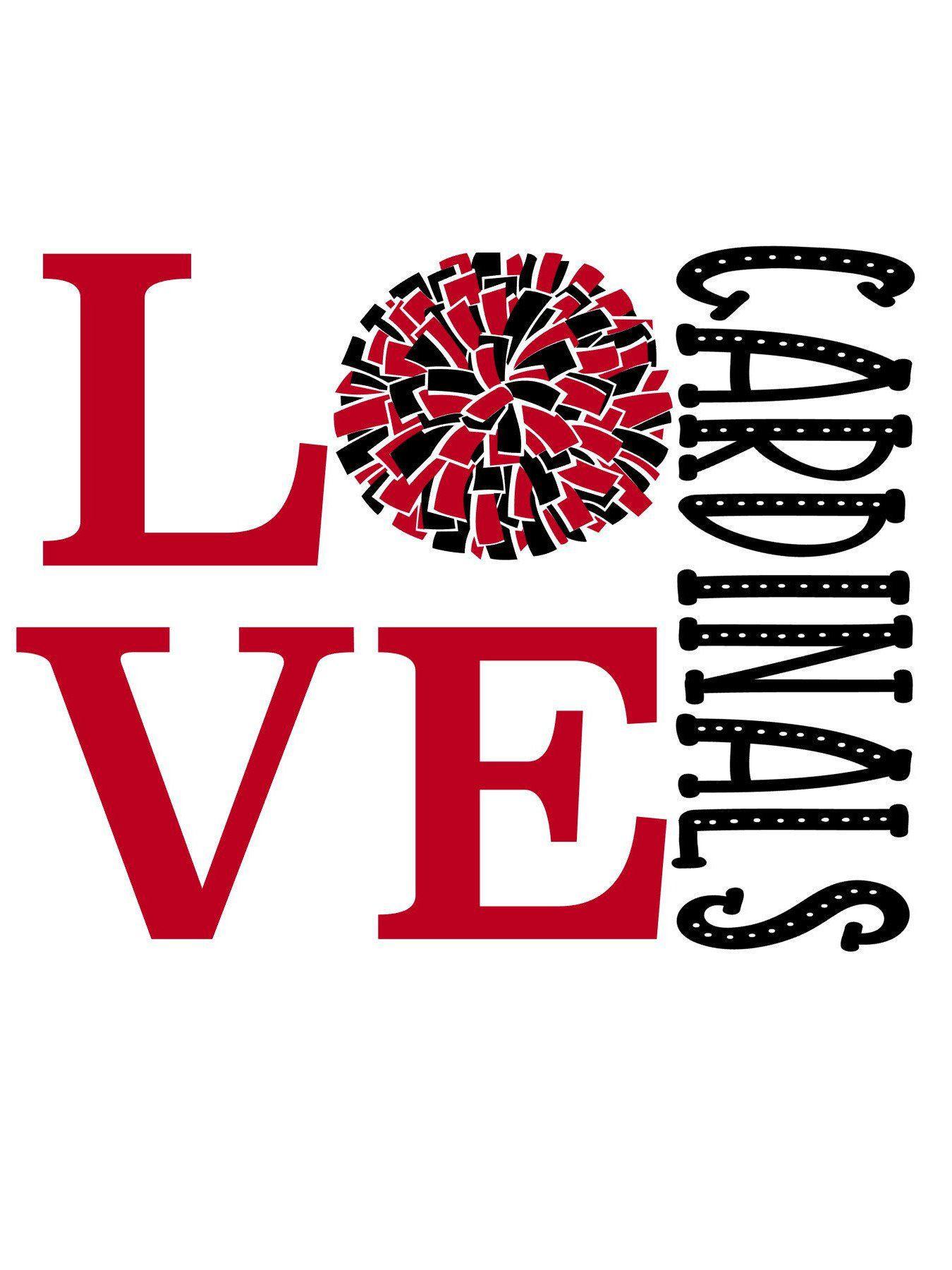 Download Love Cardinals Cheer SVG | Cheer shirts, Spirit shirts ...
