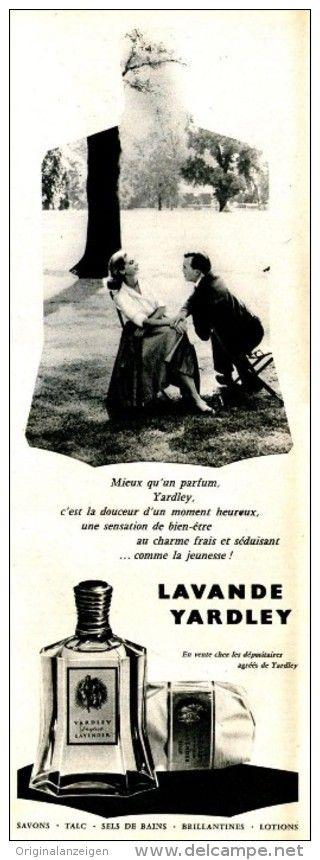 Werbung - Original-Anzeige / Publicité 1957 - (en français) LAVANDE YARDLEY - ca. 110 x 320 mm