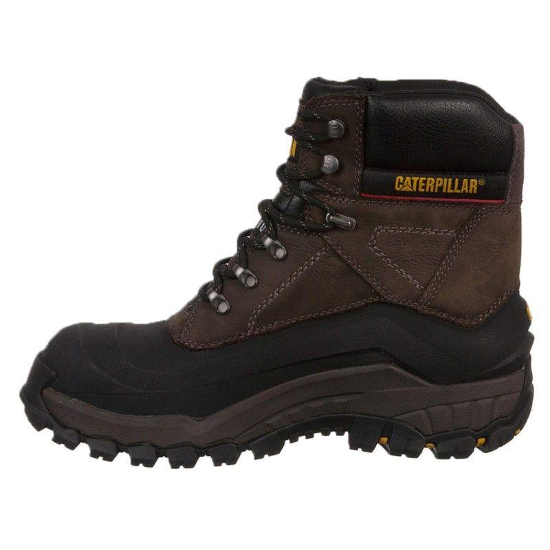 Caterpillar Men's Flexshell Waterproof Insulated Steel Toe Work Boots  (Black Coffee) - 12.0 W