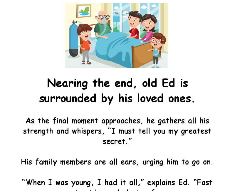 Old Ed Has A Secret To Share | Funny Jokes | Joke of the ...