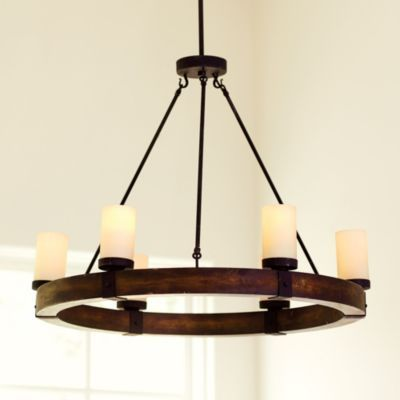 Arturo 6 light chandelier ballard designs pinteres for Round rustic chandeliers