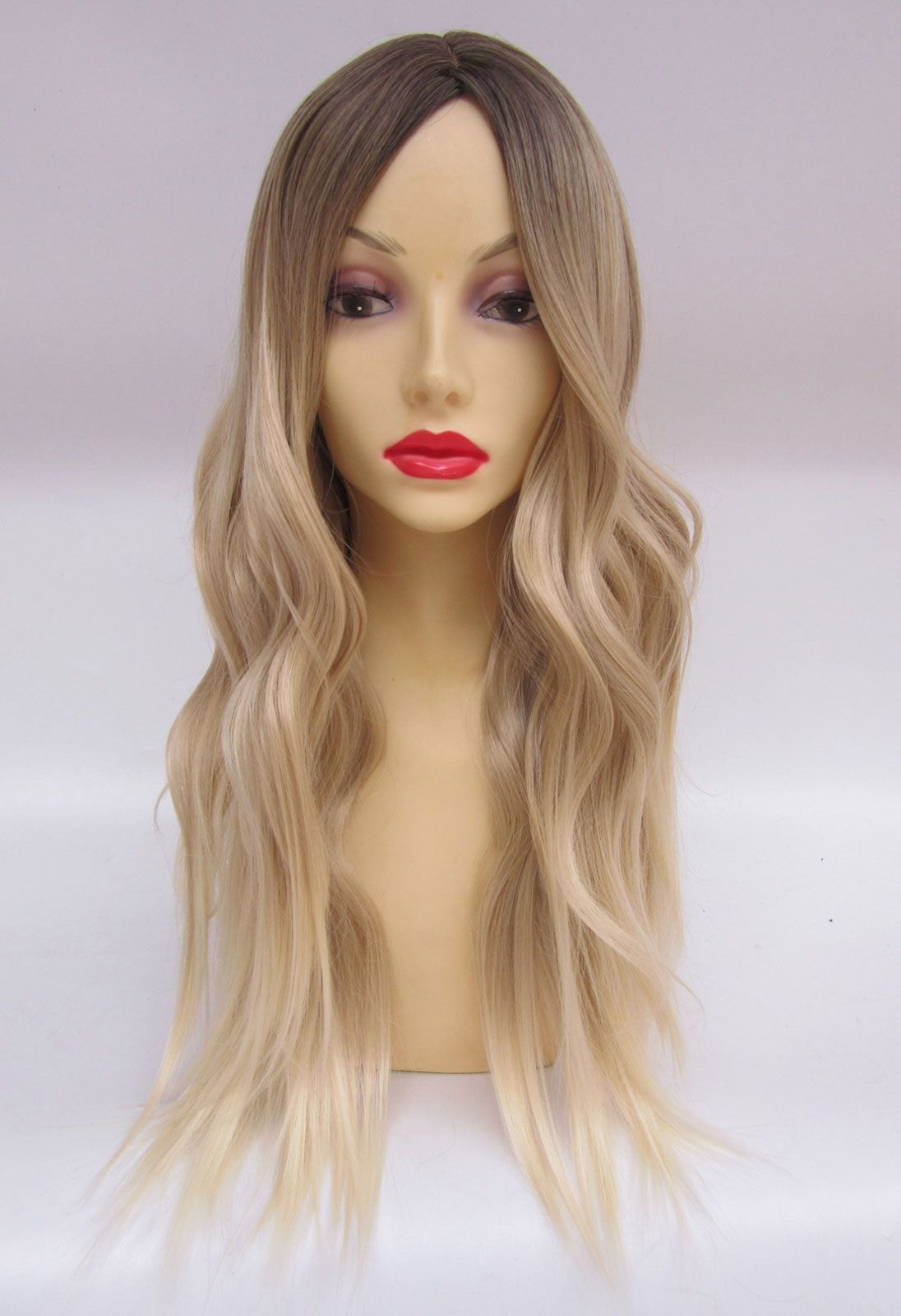 Long Blonde Wavy Fashion Wig  KhloeKardashian  Celebrity  Roots  Regrowth   Hairstyle  Hair 5a7d8e846