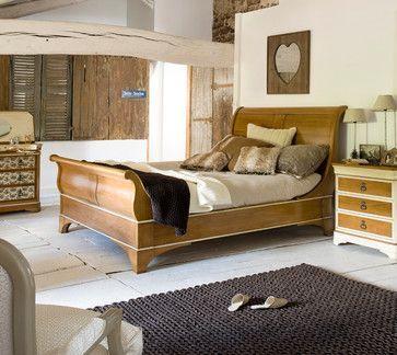 Houten tweepersoonsbed - slaapkamer interieur - slaapkamer ideeën ...