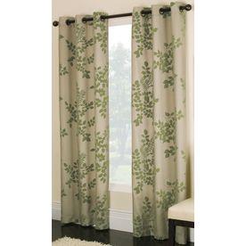 Elegant Allen Roth 84 In L Green Waterbury Curtain Panel