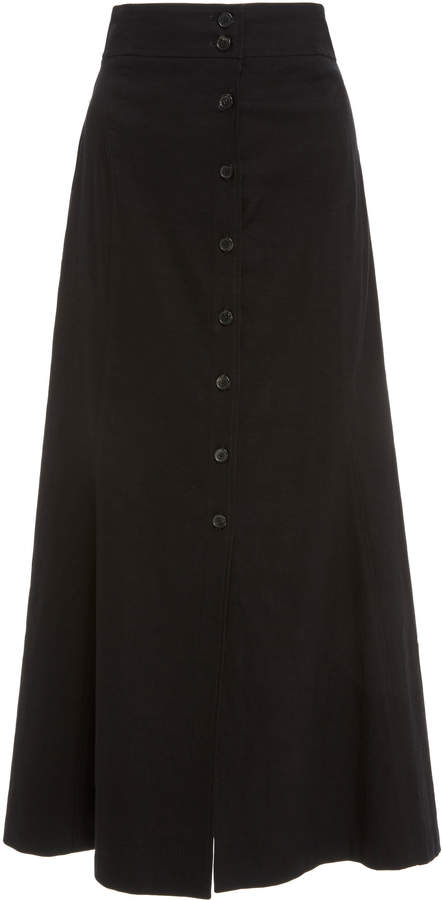 c60ad77c6531 Amelie High Waist Button Front Midi Skirt | مهوش | Skirts, Midi ...