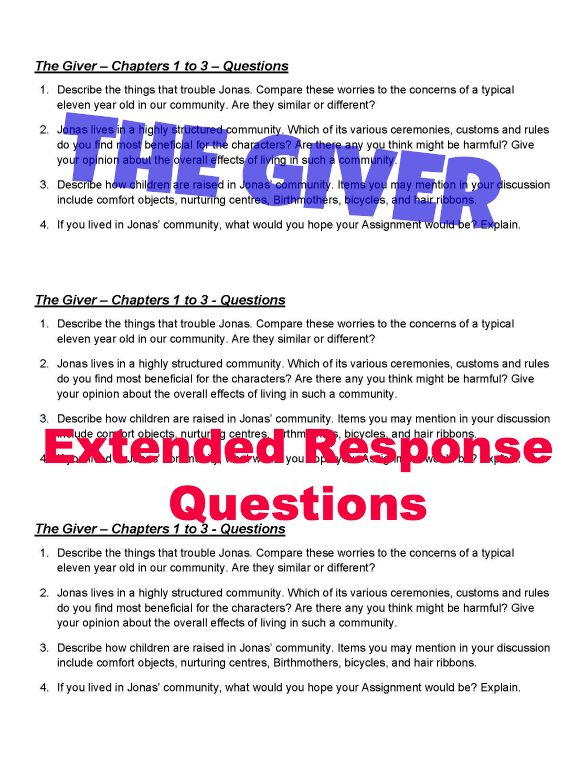 The giver essay questions