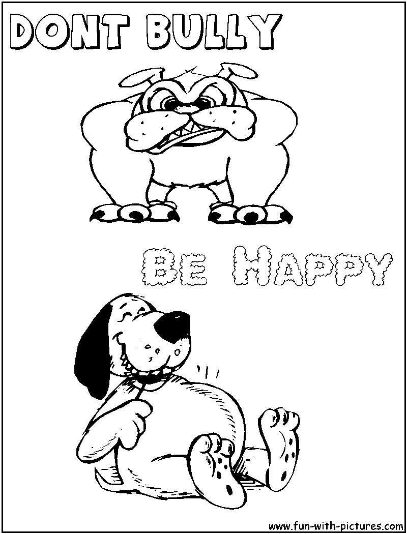 Worksheet Printable Bully Story For Kids dont bully be happy anti bulling pinterest bullies happy