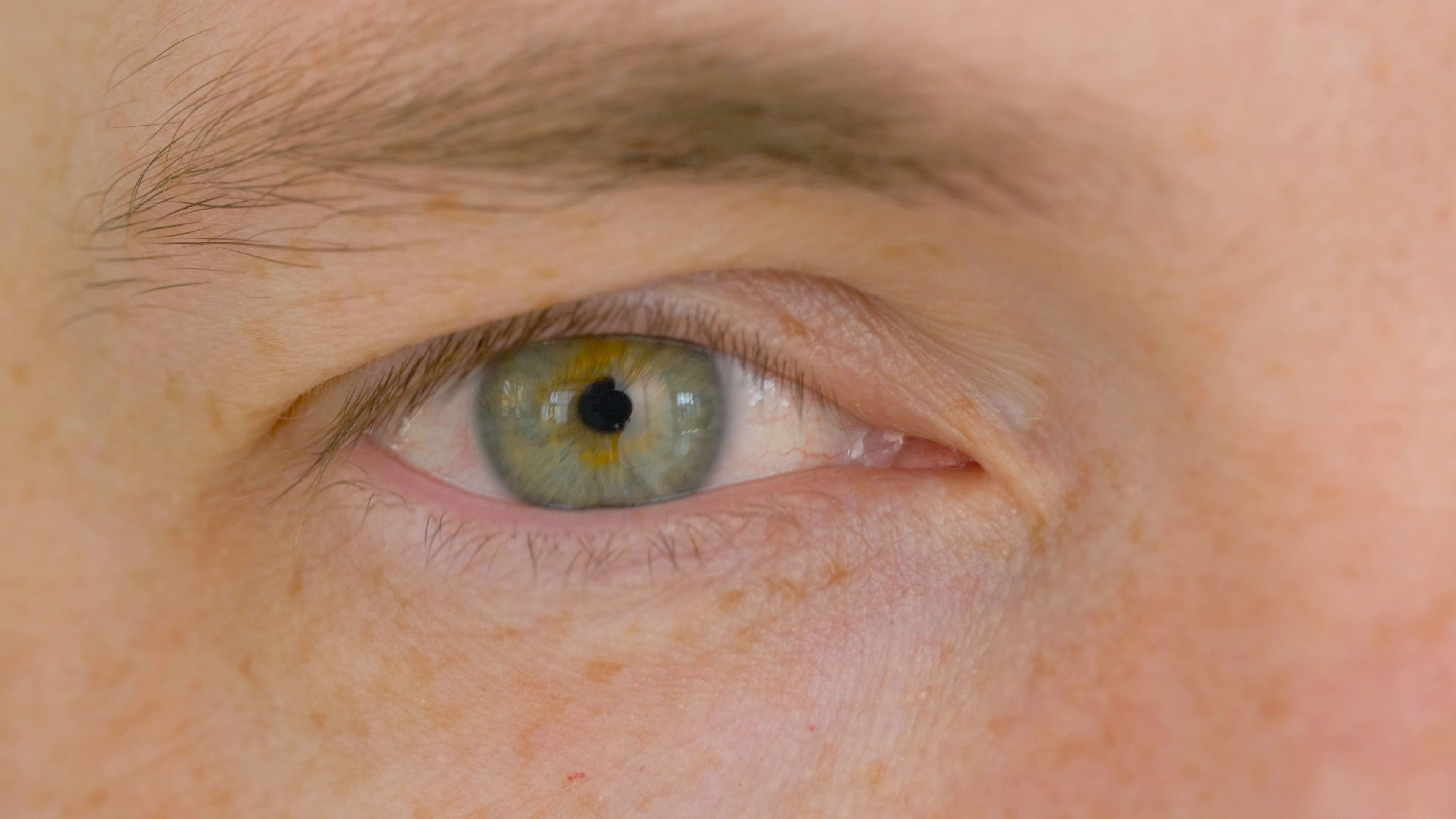 ff54be5a Close up of male eye with green iris Stock Footage,#eye#male#Close#green