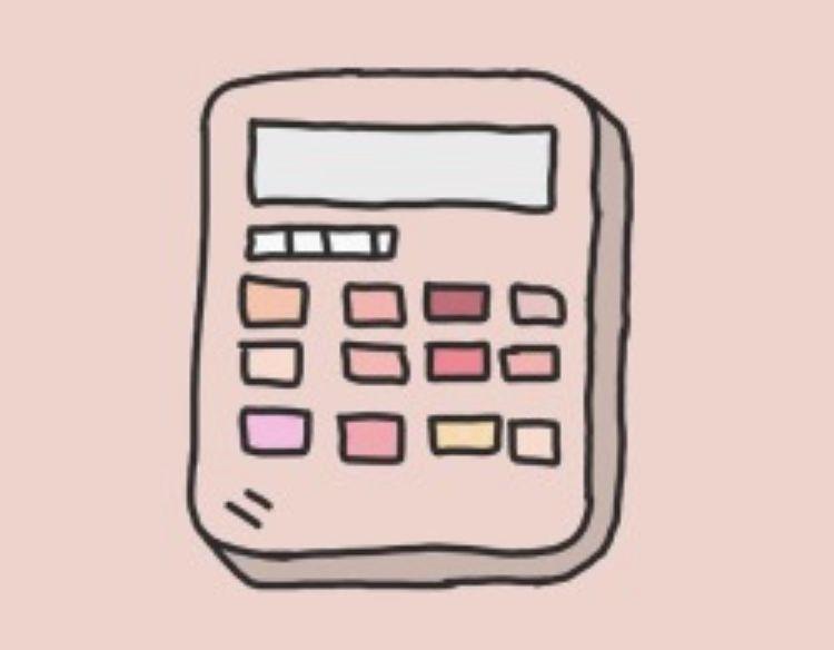 Calculator Icon Aesthetic Cute