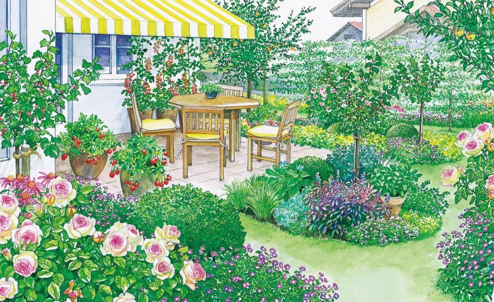Gestaltungsideen Fur Eine Sonnenterrasse Mein Schoner Garten Design Kleiner Garten Krauter Anpflanzen Krautergarten Design