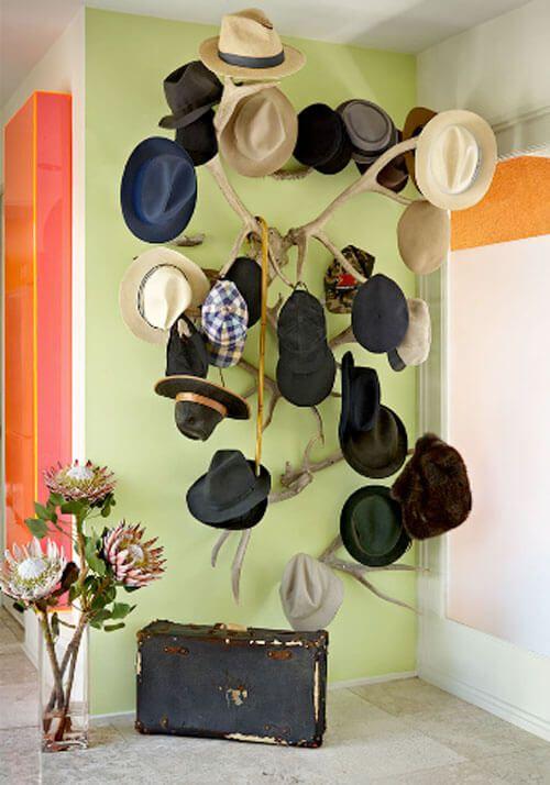 22 DIY Hat Racks Hang Up Your Fedoras and Stetsons | Diy hat rack ...