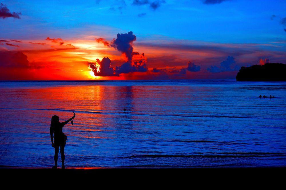 Sunset at Hagatna Bay Photo by Hiro Kurashina -- National Geographic Your Shot